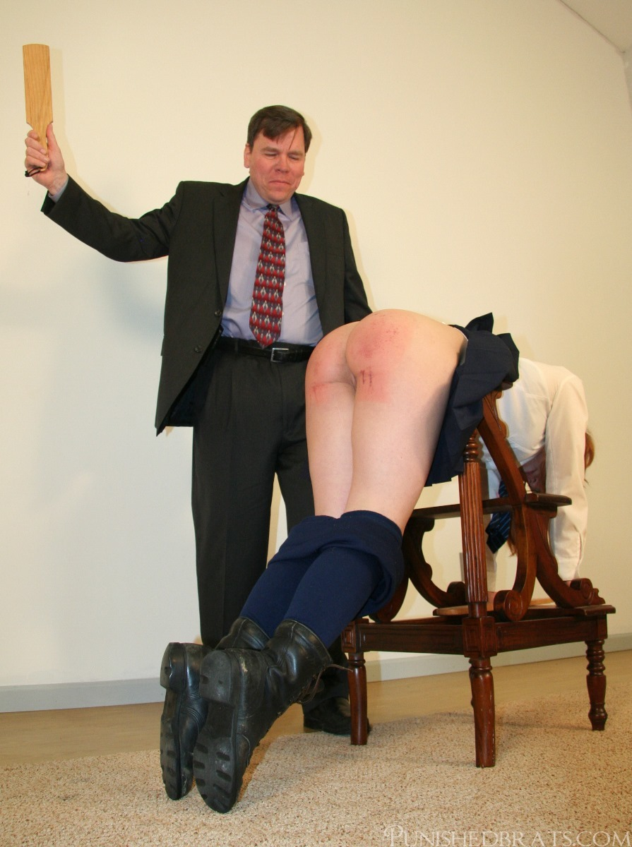 Spanked With Wooden Paddle